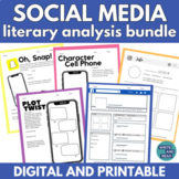 Social Media Literary Analysis Bundle: Use with ANY Story
