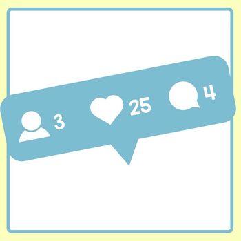 Social Media Notifications Technology Themed Clip Art Set Commercial Use