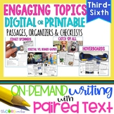 Engaging Topics Paired Texts Bundle: Writing On-Demand Opinion/Argumentative