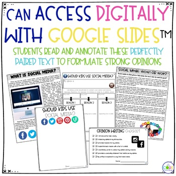 Social Media Paired Texts: Writing On-Demand Argumentative and Opinion Essays