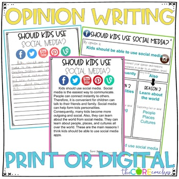 Social Media Paired Texts: Writing On-Demand Opinion Argumentative Essay
