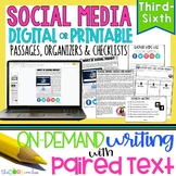 Social Media Paired Texts: Writing On-Demand Opinion and Argumentative Editable