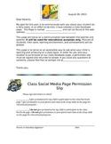 Social Media Permission Slip