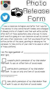 Social Media Photo Release Permission Form