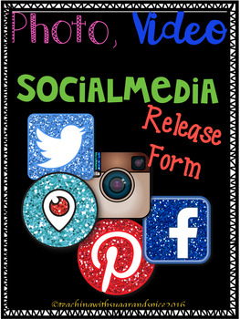 Social Media, Photo Video Release Form