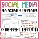 Social Media Profile Templates for any middle school ELA activity