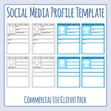 Social Media Profile Templates Clip Art for Commercial Use