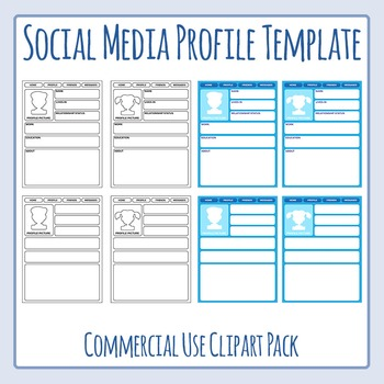 Social media profile templates clip art for commercial use by social media profile templates clip art for commercial use maxwellsz