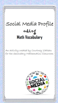Social Media Profile using Math Vocabulary