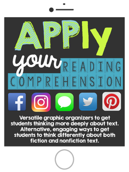 Social Media Reading Graphic Organizers & Literature Circle Set