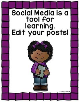 Social Media Rule Posters - Freebie!