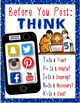 Social Media Safety Poster: Digital Citizenship and Cyber Safety