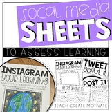 Distance Learning Social Media Sheets