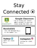 Social Media Stay Connected Flyer