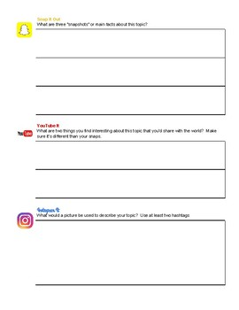 Social Media Style Close Reading Handout