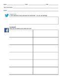 Social Media Style Close Reading Handout