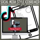 Social Media Style Icebreaker Teacher Presentation and Stu