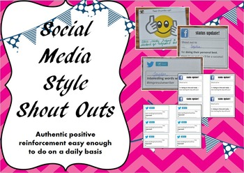 Social Media Style Shout Outs