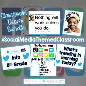 Social Media Technology Twitter Theme Classroom Decoration