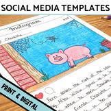 Social Media Template Bundle Instagram, Snapchat, & Twitter