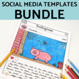 Social Media Template Bundle Instagram, Snapchat, & Twitte