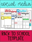 Social Media Template Pack   Back to School