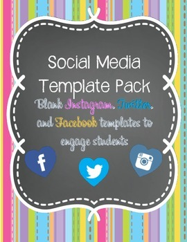 Social Media Template Pack (Blank Instagram, Twitter, and Facebook Templates)