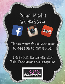 Social Media Template Worksheets