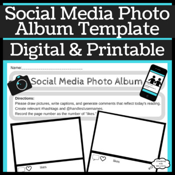 Social Media Template for During or After Reading