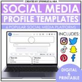 Social Media Profile Templates