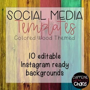 Social Media Templates-Colored Wood IG