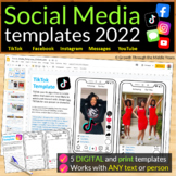 Social Media Character Profiles for ANY text (Distance Learning Supported)