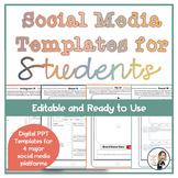 Social Media Templates for Students (Editable)