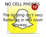 Social Media Theme- No Cell Phones Poster