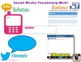 Social Media Theme Vocabulary Web