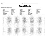 Social Media Theme Word Search