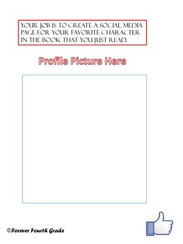 Social Media Themed Book Report (upper elementary and middle school)