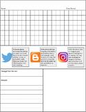 Social Media-Themed Reading Response Sheet