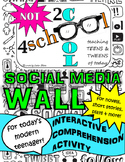 Gift card giveaway!! Social Media Wall for ANY NOVEL or short story! NO PREP!
