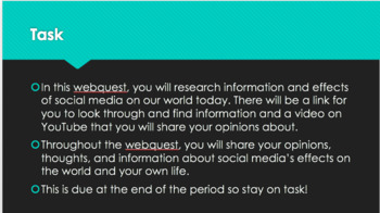 Social Media Webquest