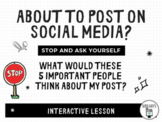 Social Media: What Would These People Think About Your Post? Interactive Lesson