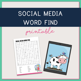 Social Media Terminology Word Find
