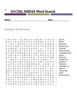 Social Media Word Search