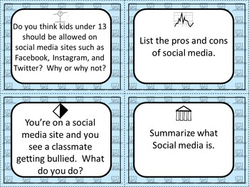Social Media and Digital Citizenship Depth & Complexity Frames & Task Cards