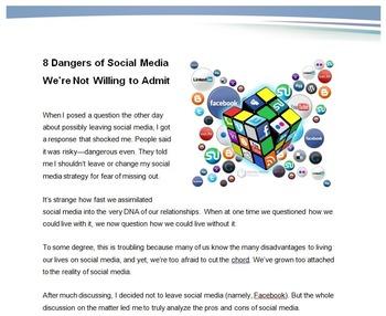 Social Media in Our Lives