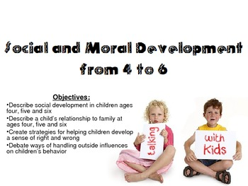 Social & Moral Development of ages 4-6 Powerpoint for Child Development