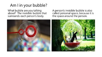Social Narrative:  Am I in your bubble?