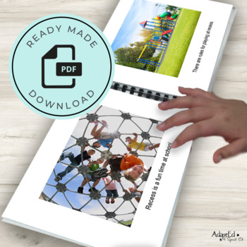 Social Narrative: Editable: Recess