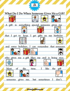 Social Narrative - What Do I Do When Someone Gives Me a Gift?