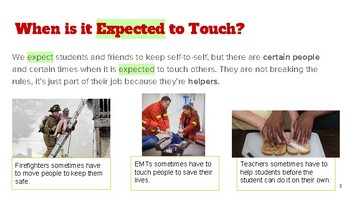 Social Narrative for Students w/ Behavior Intervention - When Hands On is Needed